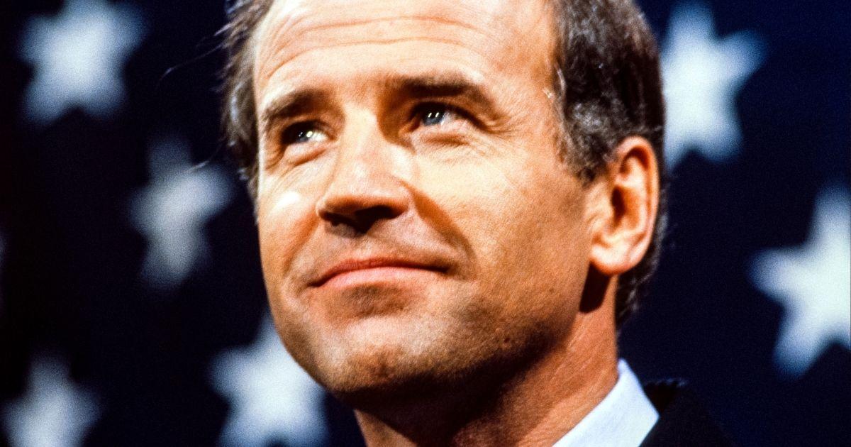 Then-Sen. Joe Biden speaks in Washington on June 9, 1987