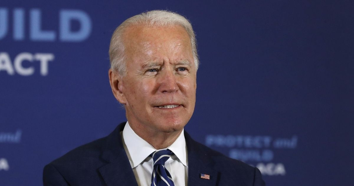 Democratic presidential nominee Joe Biden delivers remarks about health care at Beech Woods Recreation Center in Southfield, Michigan, on Friday.