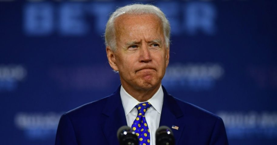 Former Vice President Joe Biden delivers a speech at the William Hicks Anderson Community Center on July 28, 2020, in Wilmington, Delaware.