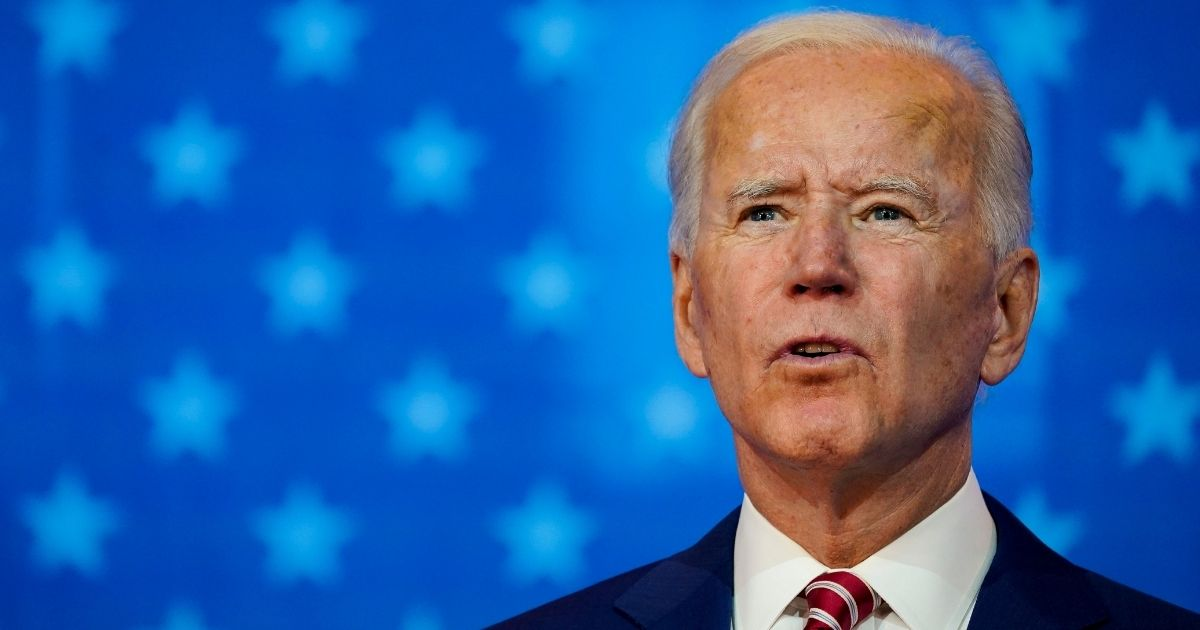 Democratic presidential nominee Joe Biden speaks about his plans for combating the coronavirus pandemic at The Queen theater in Wilmington, Delaware, on Friday.