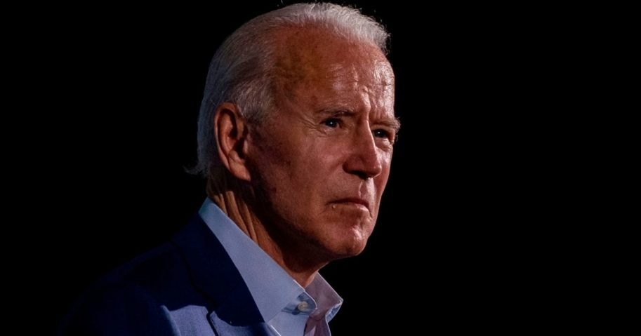 Democratic presidential nominee Joe Biden looks on during a drive-In campaign event in Tampa, Florida, on Thursday.