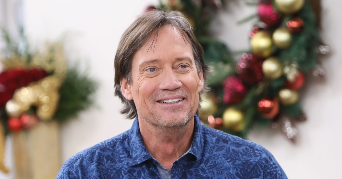 """Actor Kevin Sorbo visits Hallmark's """"Home & Family"""" at Universal Studios Hollywood on Dec. 4, 2018, in Universal City, California."""