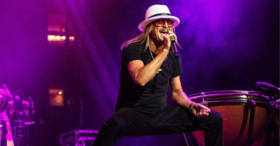 Kid Rock performs on stage at KAABOO Texas at AT&T Stadium on May 11, 2019, in Arlington, Texas.