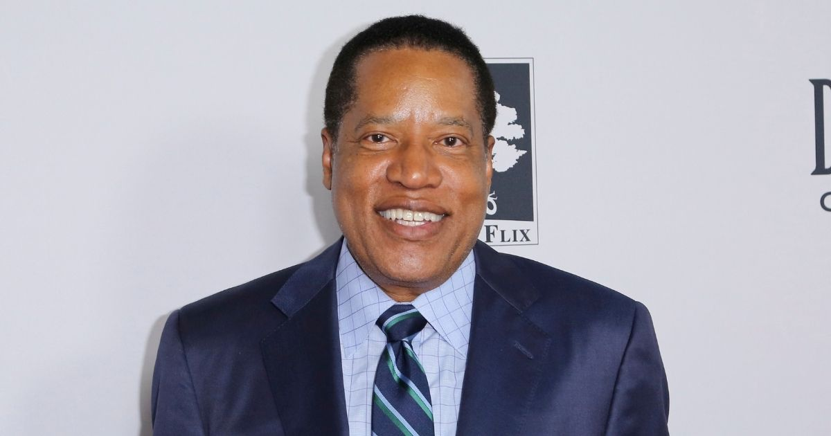 """Conservative commentator Larry Elder arrives at the Los Angeles Premiere of """"Death of a Nation"""" at the Regal Cinemas at L.A. Live on July 31, 2018, in Los Angeles."""
