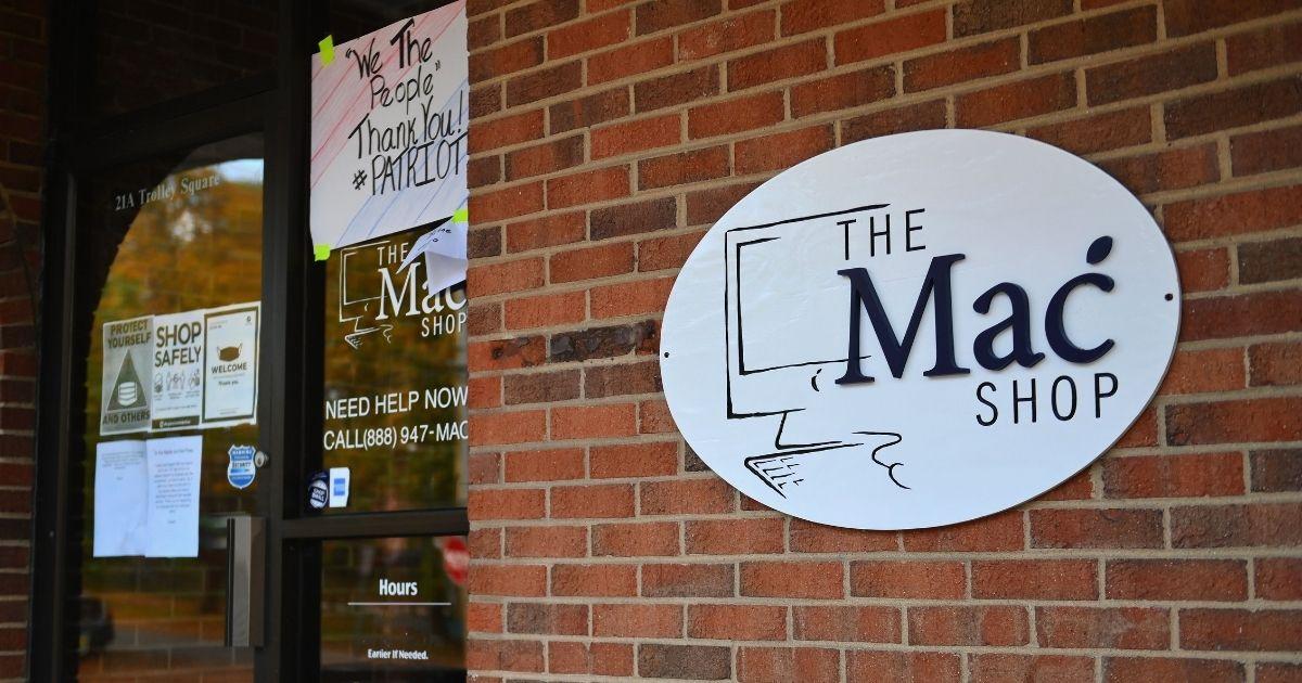 The Mac Shop in Wilmington, Delaware.