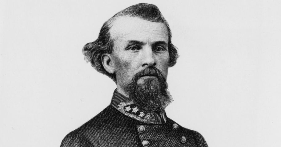 Nathan Bedford Forrest (1821-1877), is seen above circa 1865.