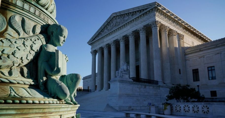 The Supreme Court is seen in Washington, D.C., on Monday.