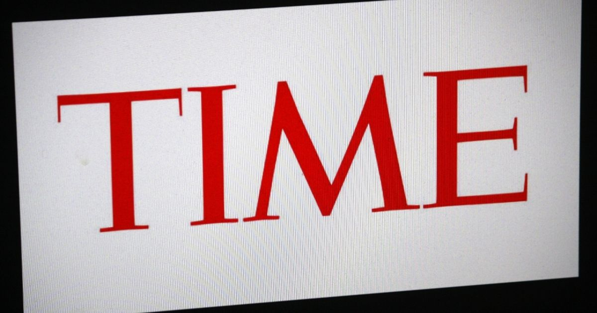 The logo of Time magazine is pictured above.