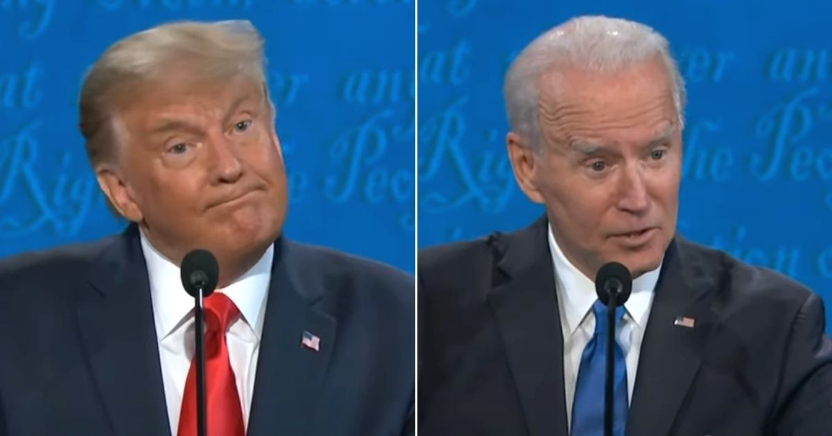 President Donald Trump reacts to Democratic presidential nominee Joe Biden's statement that he will end the oil industry.