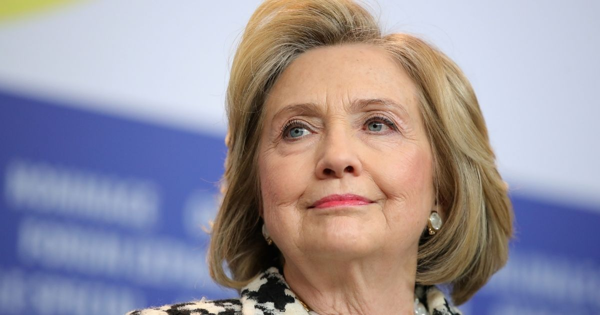 Former Democratic presidential candidate Hillary Clinton pictured in a file photo from February in Berlin.