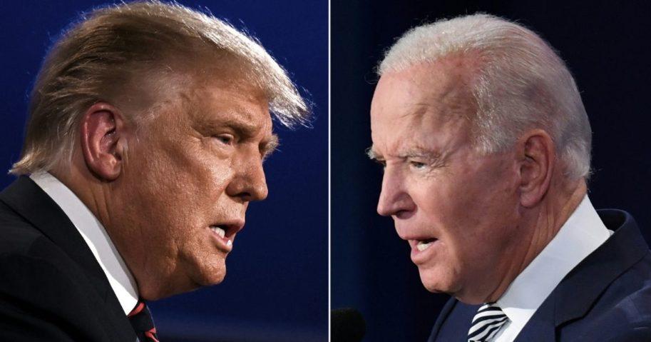 President Donald Trump, left; Democratic presidential nominee Joe Biden, right.