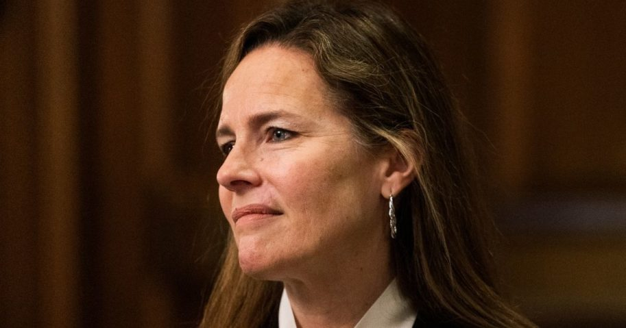 Federal Judge Amy Coney Barrettis pictured in an Oct. 1 file photo.