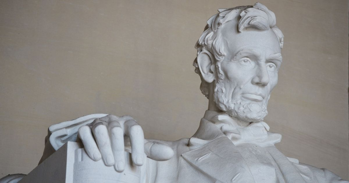 The face of the Abraham Lincoln statue in Washington's Lincoln Memorial is pictured in a 2015 file photo.