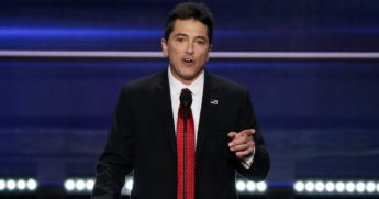 "Actor Scott Baio, best known for his character Chachi on the 1970s sitcom ""Happy Days,"" addresses the 2016 Republican National Convention in Cleveland."