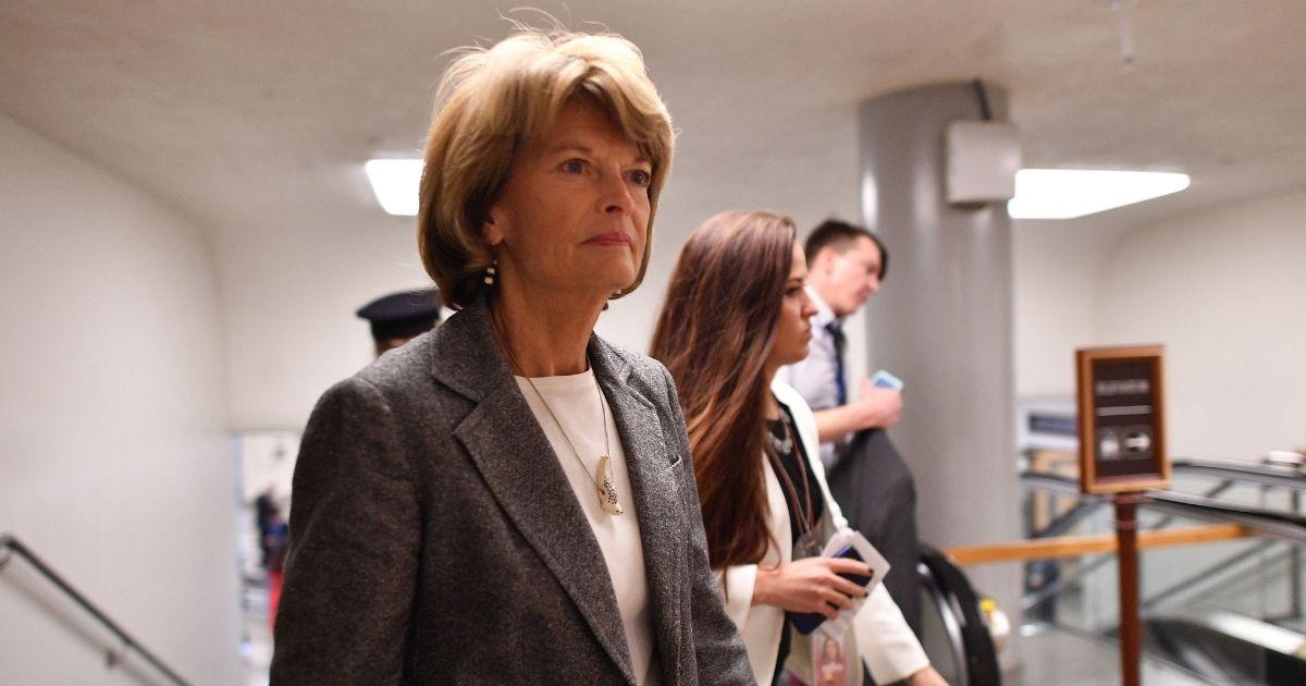 Alaska Republican Sen. Lisa Murkowski in a file photo from January.