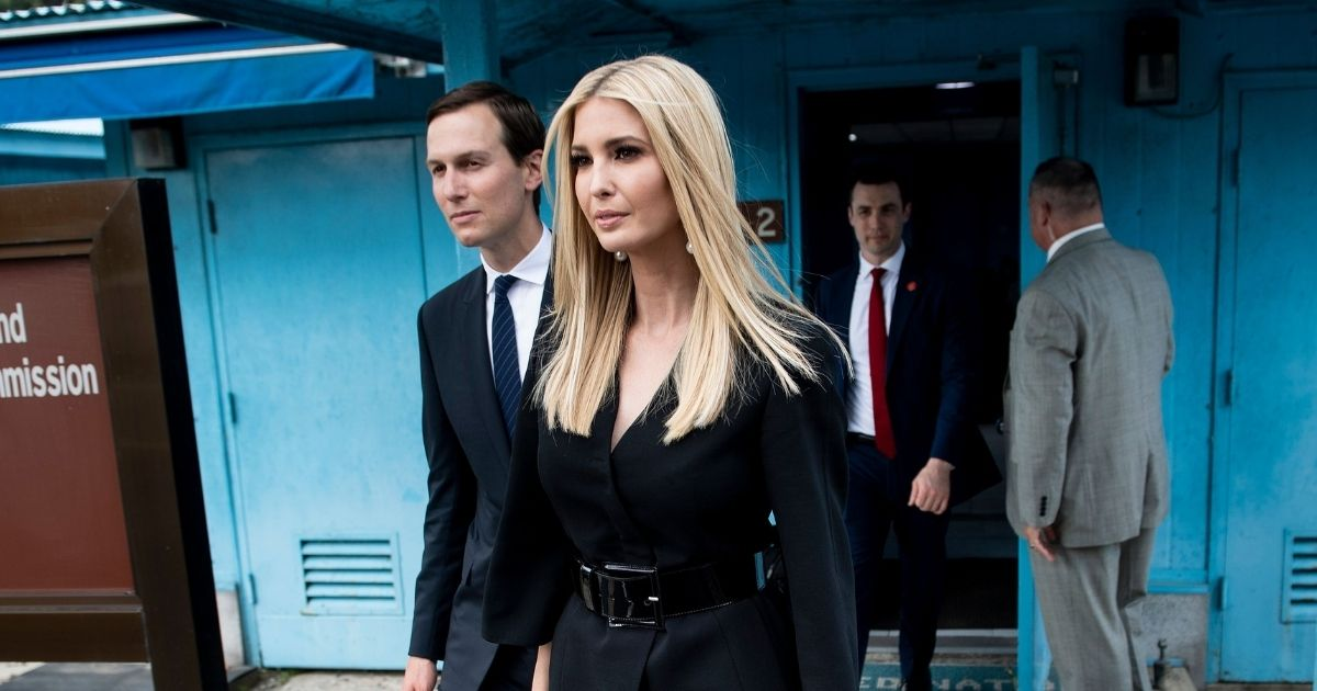 Senior White House advisers Ivanka Trump and her husband, Jared Kushner, pictured in a file photo from the Demilitarized Zone on the border of North and South Korea in June 2019.