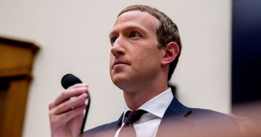 Facebook CEO Mark Zuckerberg appears before a House Financial Services Committee hearing on Capitol Hill in Washington on Oct. 23, 2019.