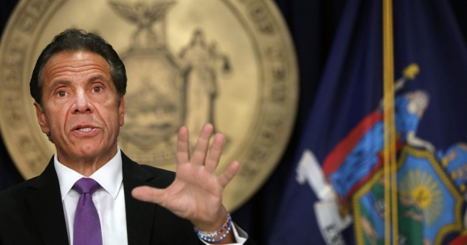 New York Gov. Andrew Cuomo speaks at a news conference on Sept. 8, 2020, in New York City.