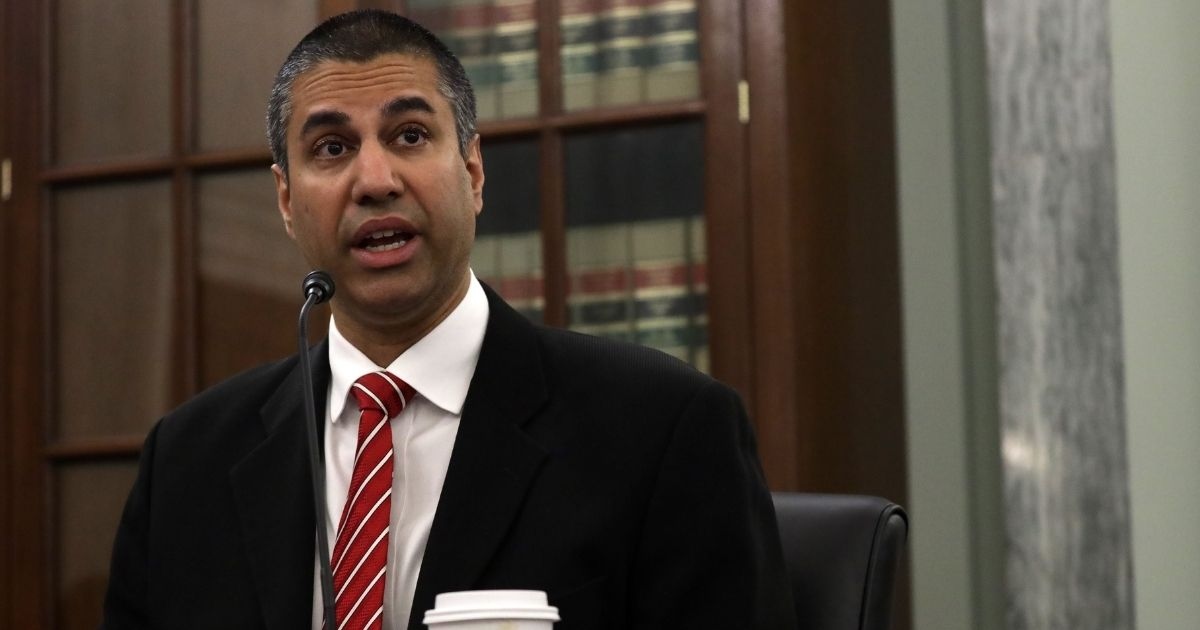 Ajit Pai, chairman of the Federal Communications Commission testifies during a hearing on June 24, 2020, in Washington, D.C.