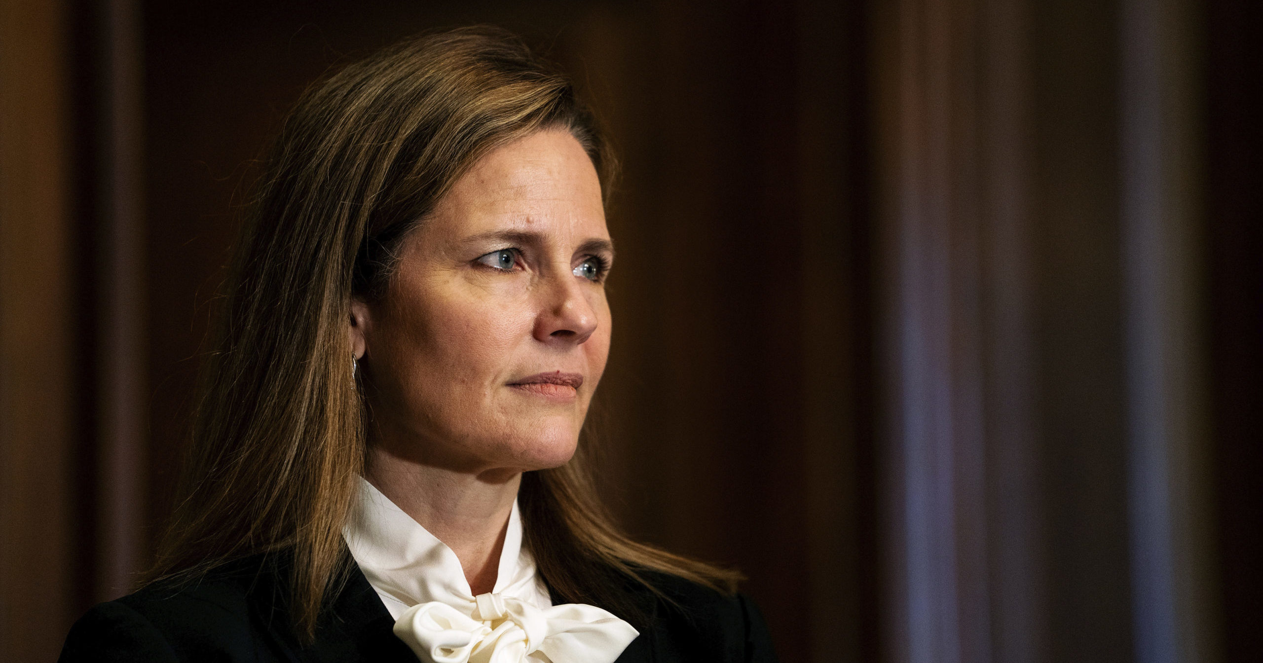 Judge Amy Coney Barrett, President Donald Trump's nominee for the Supreme Court, meets with Sen. Josh Hawley on Capitol Hill in Washington, D.C., on Oct. 1, 2020.