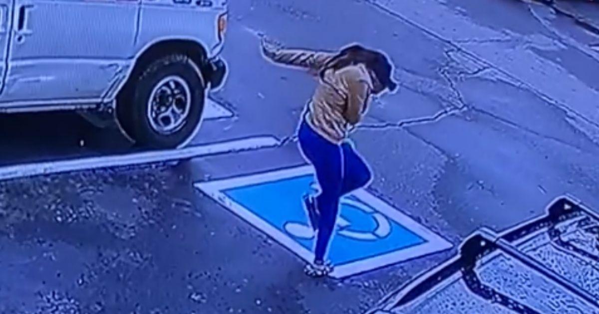 Kallayah Jones dancing in the parking lot after a good interview.