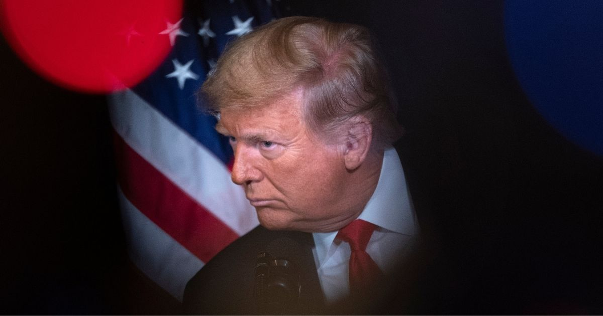 President Donald Trump speaks after receiving industry endorsements at the Trump International Hotel Las Vegas on Oct. 28, 2020, in Las Vegas, Nevada.