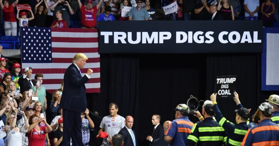 President Donald Trump speaks during a rally in Charleston, West Virginia, on Aug. 21, 2018.