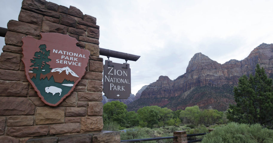 This Sept. 15, 2015, file photo shows Zion National Park near Springdale, Utah.