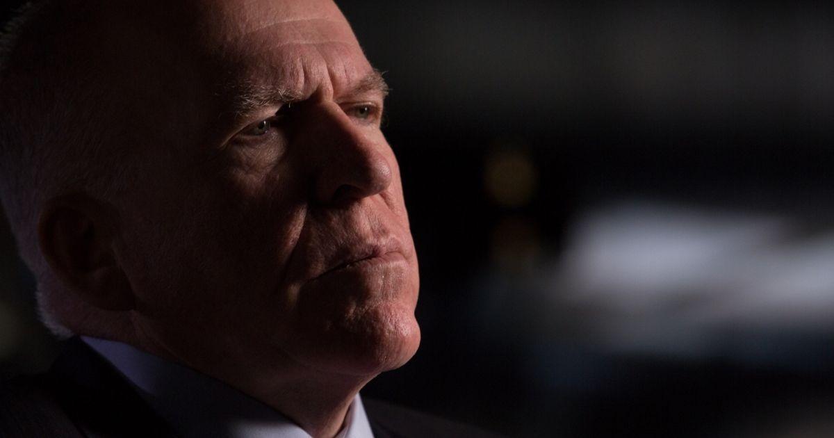 Former CIA director John Brennan is interviewed in Washington, D.C., on May 16, 2015.