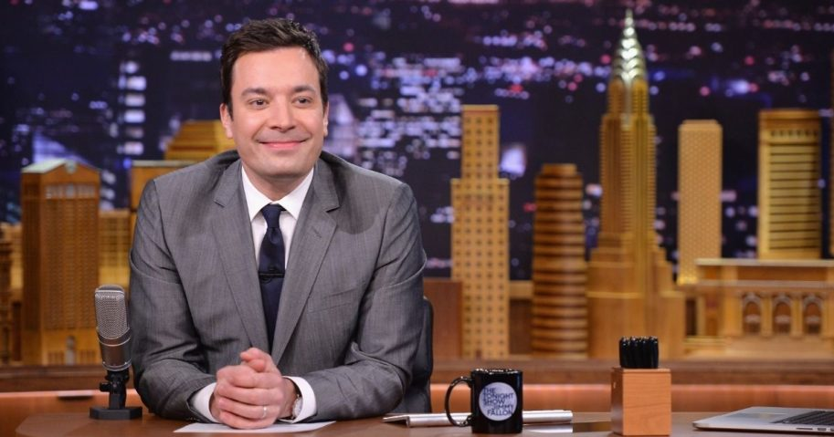 "Jimmy Fallon hosts ""The Tonight Show Starring Jimmy Fallon"" on Feb. 26, 2014, in New York City."