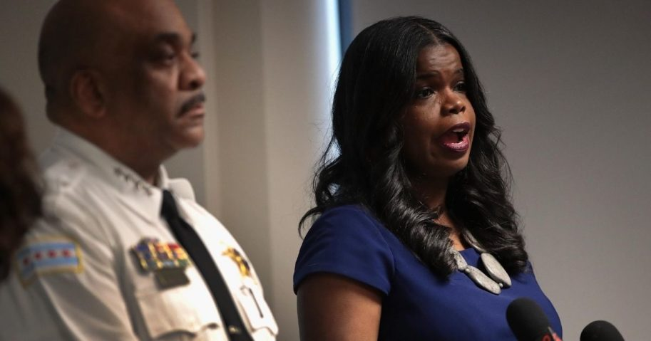 State Attorney Kim Foxx speaks during a news conference on Feb. 22, 2019, in Chicago.