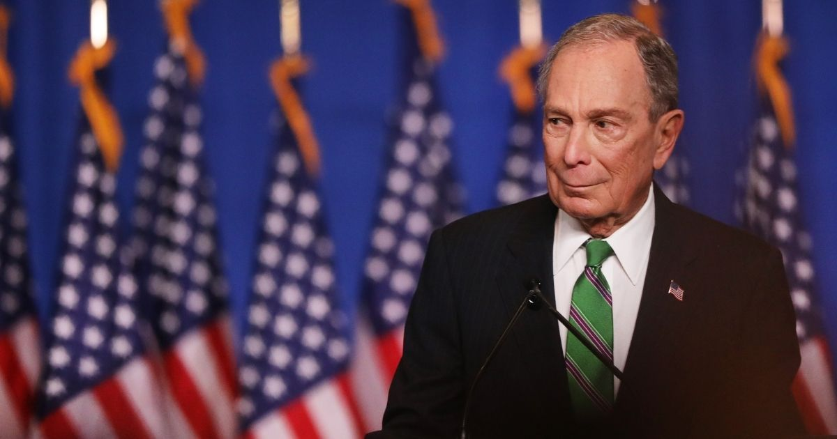 Former Democratic presidential candidate Mike Bloomberg addresses his staff and the media after announcing that he will be ending his campaign on March 4, 2020, in New York City. Bloomberg, who has endorsed Joe Biden, spent millions of dollars in his short-lived campaign for president.