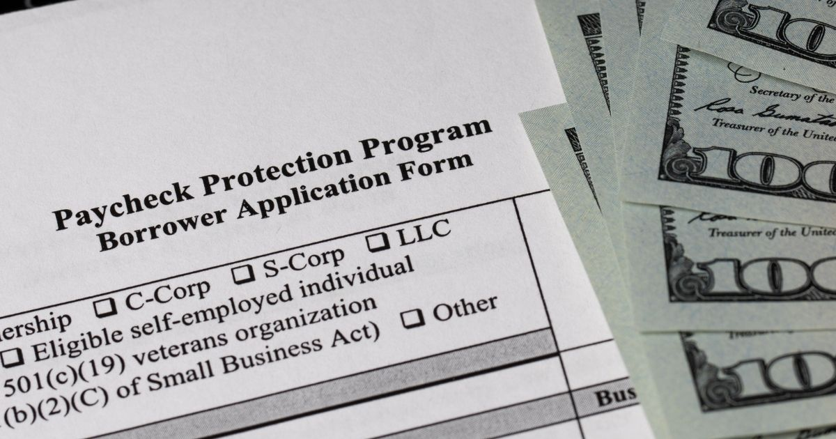 A Paycheck Protection Program application is seen in this stock image.
