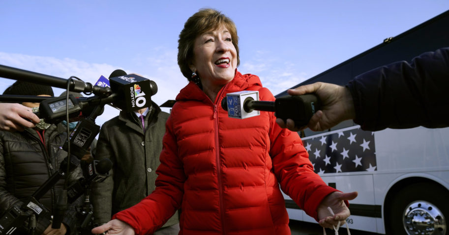 Republican Sen. Susan Collins of Maine fended off a challenge from Democrat Sara Gideon to handily win re-election.