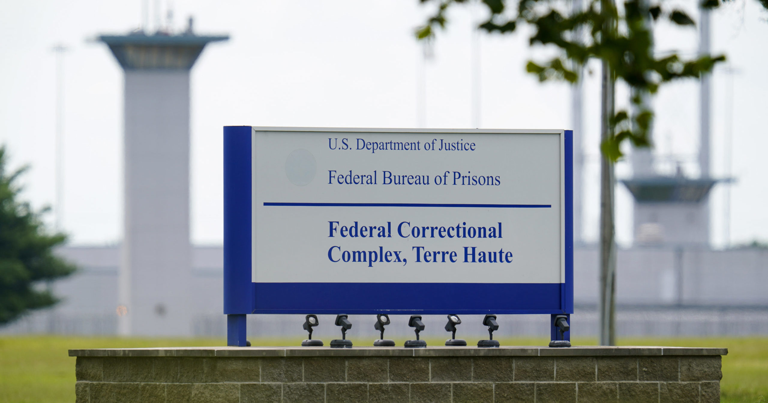 This Aug. 28, 2020, file photo shows the federal prison complex in Terre Haute, Indiana.