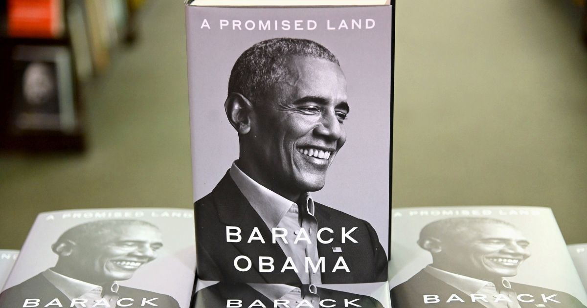 """Former President Barack Obama's memoir """"A Promised Land"""" goes on sale ahead of the holiday season at Barnes & Noble Union Square on Tuesday in New York City."""