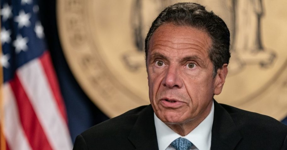 Democratic New York Gov. Andrew Cuomo speaks during his daily media briefing on July 23, 2020, in New York City.