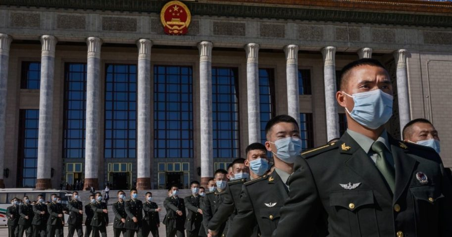 Chinese soldiers from the People's Liberation Army