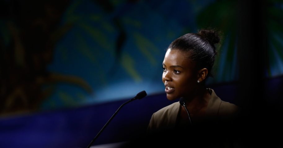 onservative activist and BLEXIT founder Candace Owens delivers a speech in Paris on Sept. 28, 2019. In a video released two weeks ago on Twitter, Owens announced she was working with big-name attorneys to sue Facebook fact-checkers.