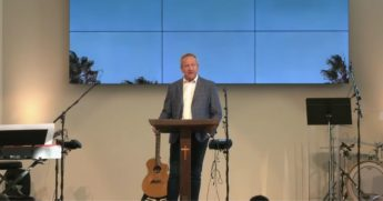 Godspeak Calvary Chapel pastor Rob McCoy preaches a sermon