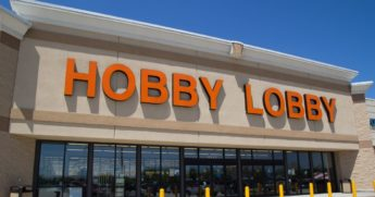 A Hobby Lobby store is seen in the stock image above.