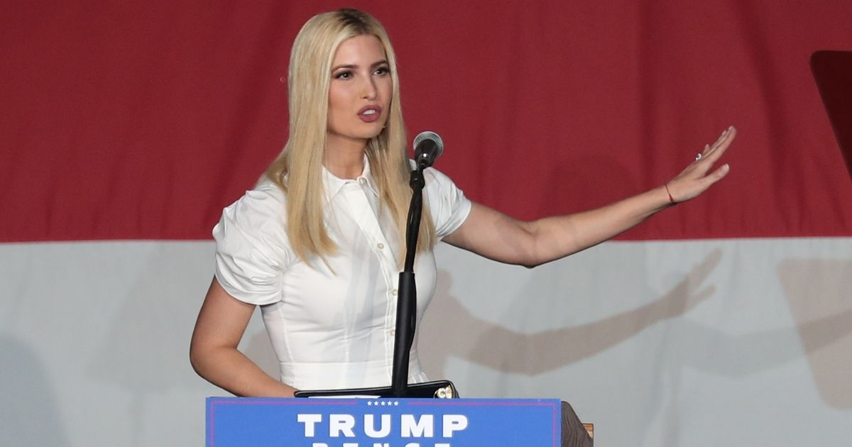 Ivanka Trump, President Donald Trump's daughter, speaks during a campaign event for her father on Oct. 27 in Miami.