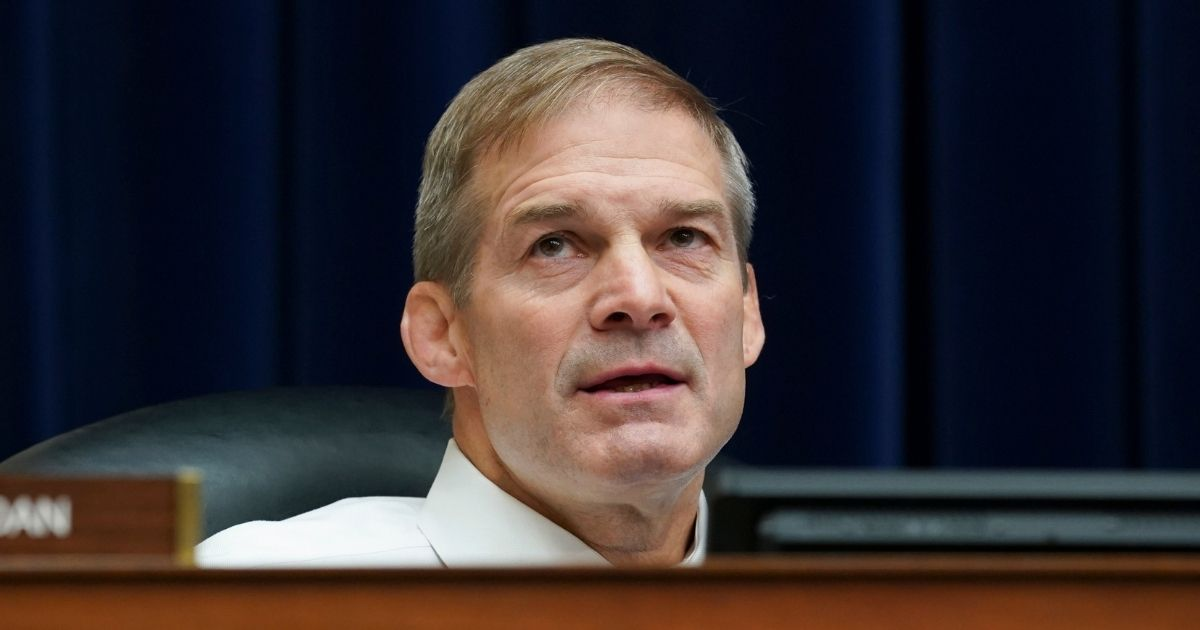Republican Rep. Jim Jordan of Ohio listens during a House Select Subcommittee on the Coronavirus Crisis hearing on Sept. 23, 2020, in Washington, D.C.
