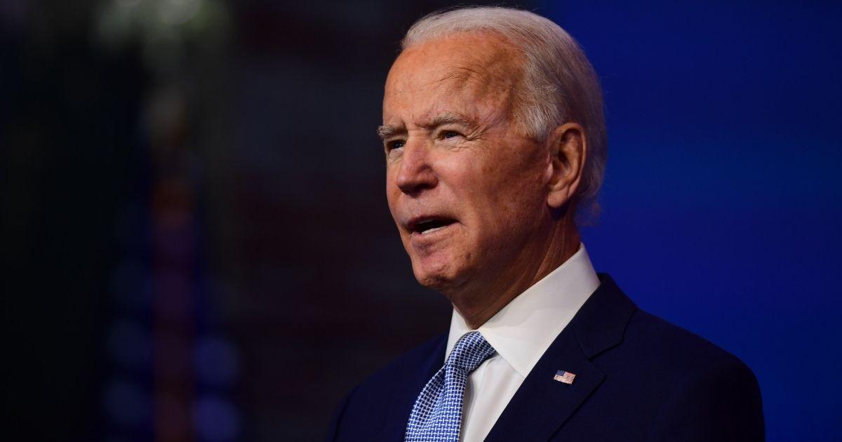 Joe Biden speaks at the Queen Theatre on Tuesday in Wilmington, Delaware.