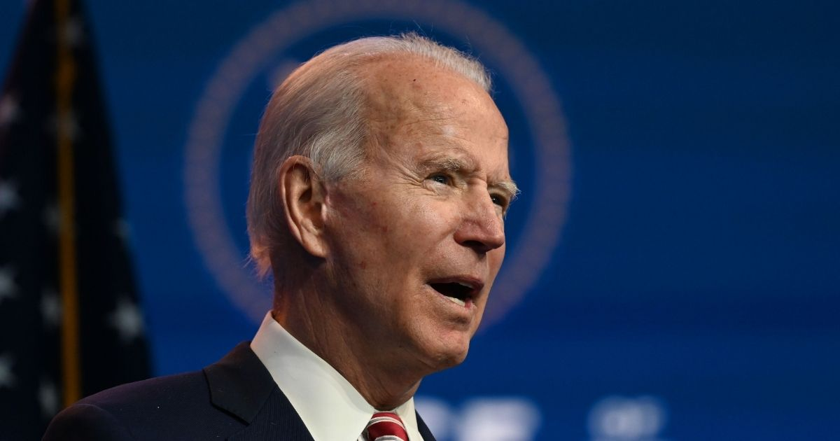 Presumptive president-elect Joe Biden speaks during a news conference at The Queen in Wilmington, Delaware on Monday.