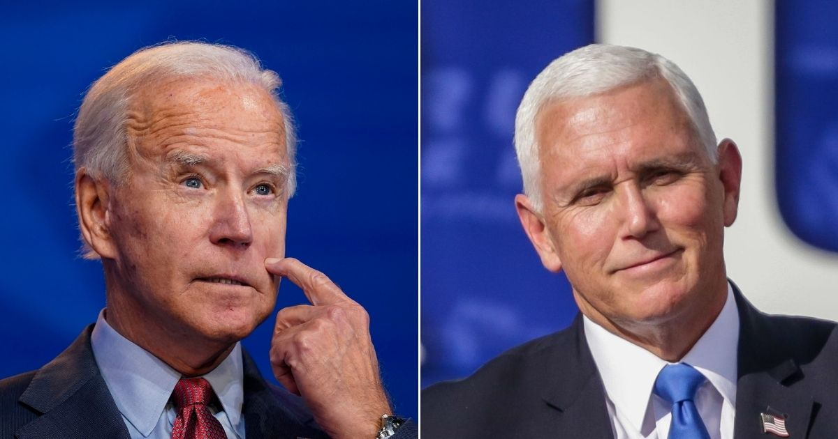 Democratic presidential nominee Joe Biden, left, and Vice President Mike Pence could end up in the same administration under the right set of circumstances.