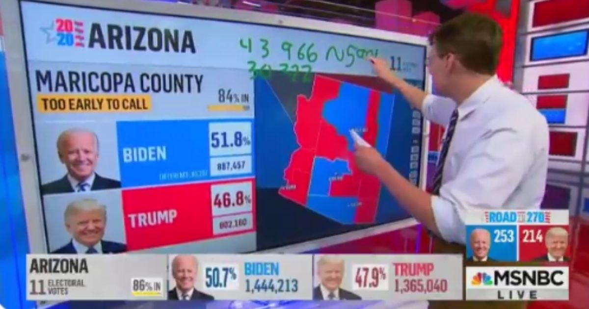 MSNBC host Rachel Maddow sounded both disheartened and alarmed to learn that President Donald Trump might yet pull out a win in Arizona.