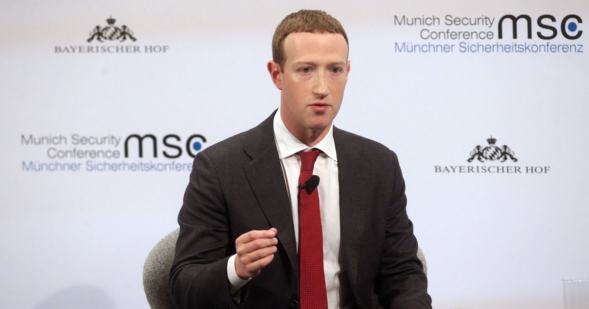 Facebook founder and CEO Mark Zuckerberg speaks during a panel talk at the 2020 Munich Security Conference (MSC) on Feb.15, in Munich, Germany.