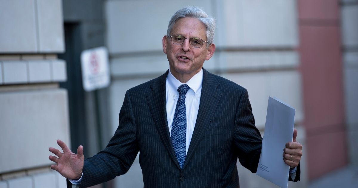 Merrick Garland, former US Supreme Court nominee, walks to the US District Court for DC Nov. 2, 2017 in Washington, D.C.