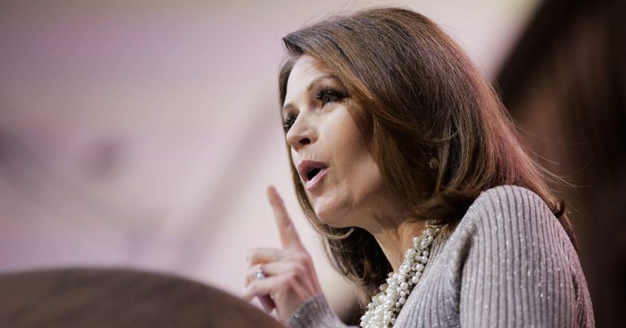 Then-Rep. Michele Bachmann, a Minnesota Republican, speaks during the 41st annual Conservative Political Action Conference on March 8, 2014, in National Harbor, Maryland.